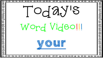 Sight Word Book Emergent Reader {Sight Word YOUR}