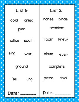 Sight Word Book- Fry's Fourth 100 Words