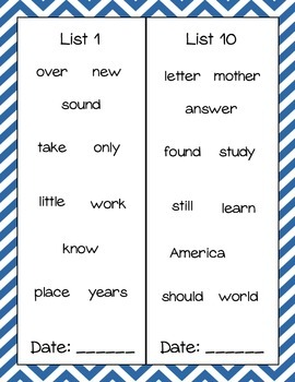 Sight Word Book- Fry's Second 100 Words