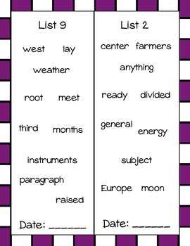 Sight Word Book- Fry's Sixth 100 Words