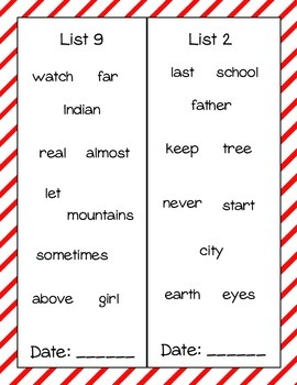 Sight Word Book- Fry's Third 100 Words
