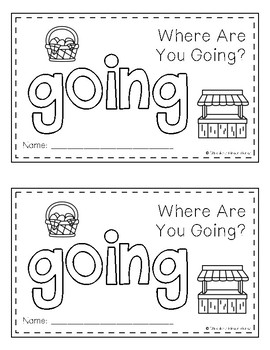 Sight Word Book - GOING