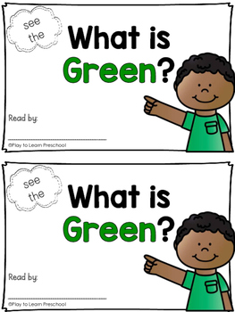 Sight Word Book - GREEN