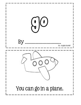 Sight Word Book: Go