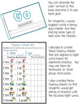 Sight Word Book-Go (Benchmark Advance Kindergarten Series)