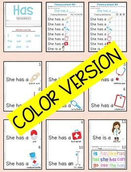 Sight Word Book-Has (Kindergarten Benchmark Advance)