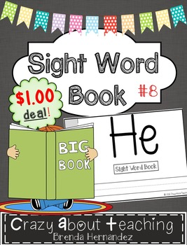 Sight Word Book-He