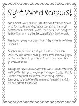 Sight Word Book - Help