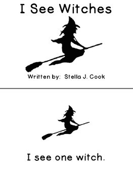 Sight Word Book: I See Witches