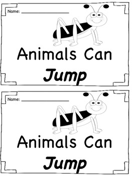 Sight Word Book - Jump