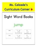 Sight Word Book- Jump