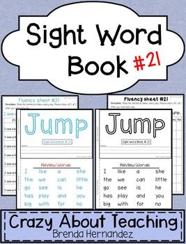 Sight Word Book-Jump (Kindergarten Benchmark Advance)