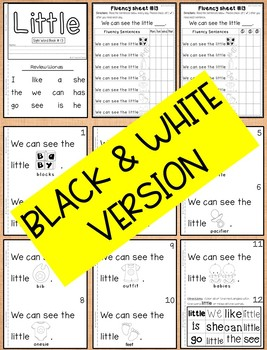Sight Word Book-Little (Kindergarten Benchmark Advance)