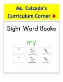 Sight Word Book- My