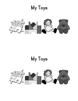 Sight Word Book: My Toys