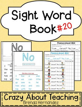 Sight Word Book-No (Kindergarten Benchmark Advance)