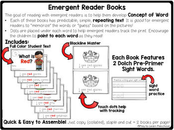 Sight Word Book - ORANGE