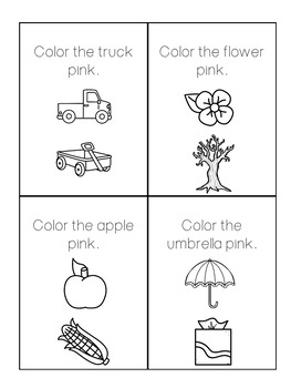 Sight Word Book: Pink