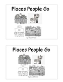 """Sight Word Book  -  """"Places People Go"""" - we, all, go, to, , the"""