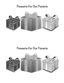 Sight Word Book:  Presents for Our Parents