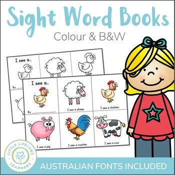 Mini Pre-Reader Sight Word Book Printables - ELEMENTARY FONT