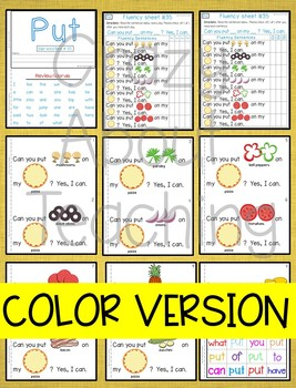 Sight Word Book-Put (Kindergarten Benchmark Advance)