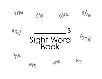 Sight Word Book - Rainbow/Stamp/Write