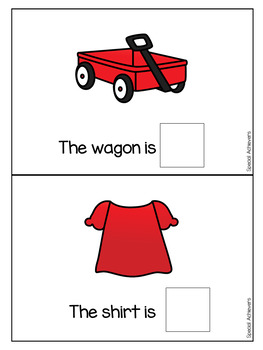 Sight Word Book: Red