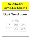 Sight Word Book- Ride