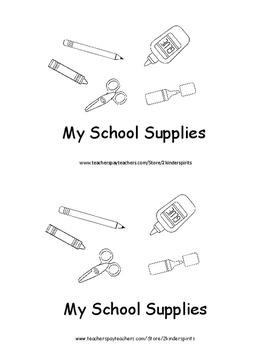 Sight Word Book   School Supplies