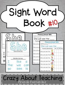 Sight Word Book-She