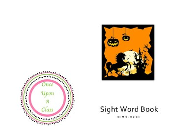 Sight Word Book THE for Halloween