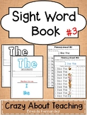 Sight Word Book-The #3 (Benchmark Advance Kindergarten Series)