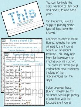 Sight Word Book-This (Kindergarten Benchmark Advance)