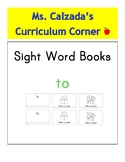 Sight Word Book- To