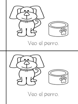Sight Word Book- Veo/I see (Spanish and English)