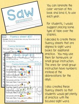 Sight Word Book-Saw (Kindergarten Benchmark Advance)