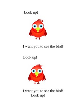 Sight Word Book: Want & Up & Look