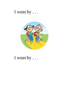 Sight Word Book: Went & By