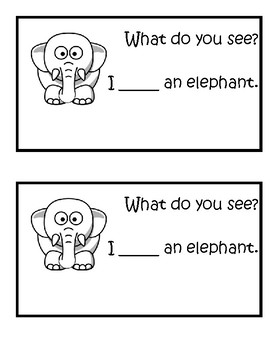 Sight Word Book 'What' and 'See'