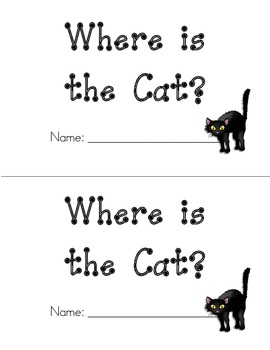 Kindergarten Emergent Reader - Sight Words Book - Where is the Cat
