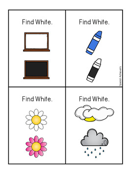Sight Word Book: White