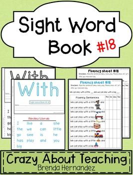 Sight Word Book-With (Kindergarten Benchmark Advance)
