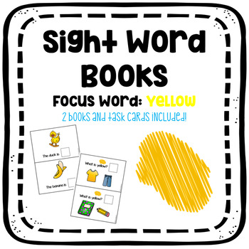 Sight Word Book: Yellow