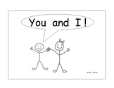 """Sight Word Book  -  """"You and I"""" - you, and, I, are"""