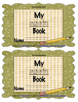 Sight Word Book - again