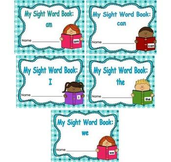 Sight Word Book and Emergent Reader Bundle Set 1