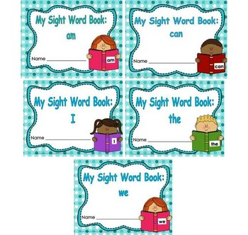 Sight Word Book and Emergent Reader Bundle Set 1