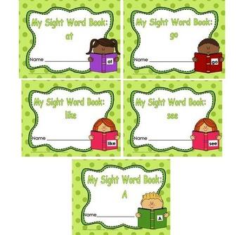 Sight Word Book and Emergent Reader Bundle Set 2