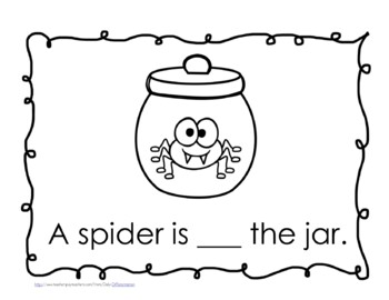 """Sight Word Book and Emergent Reader-""""in"""""""